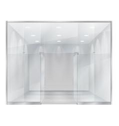 glass showcase boutique vector image