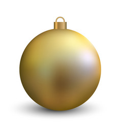 gold christmas ball on white background vector image