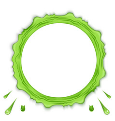 Green transparent slime set isolated on vector