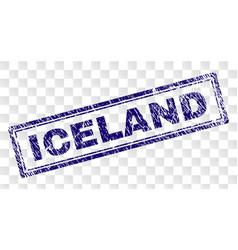 Grunge iceland rectangle stamp vector
