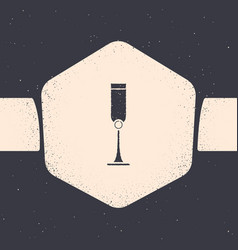 Grunge jewish goblet icon isolated on grey vector