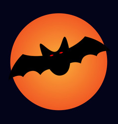 halloween bat and moon sign 109 vector image