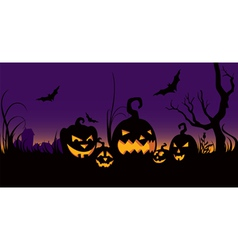 halloween celebration in the garden vector image