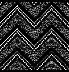 hand drawn pattern zigzag and stripe vector image