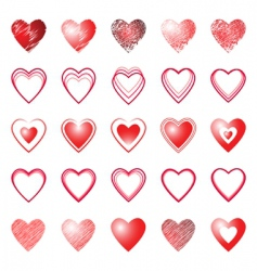 heart icons design elements set vector image