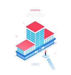 hospital - modern colorful isometric web vector image