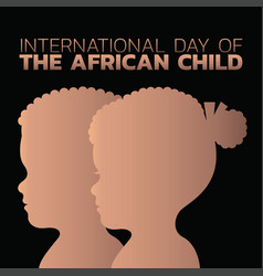 International day of the african child vector