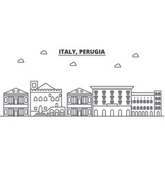 italy perugia architecture line skyline vector image