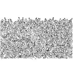 large group people crowded on stadium raising vector image