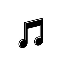 music note graphic design template isolated vector image