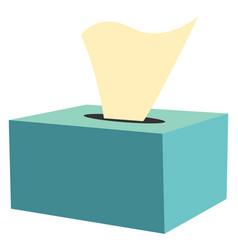 Napkin box or color vector
