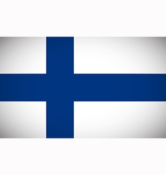 national flag finland vector image