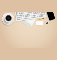 office workplace with different business vector image