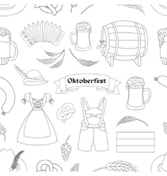 Oktoberfest pattern Germany elements vector