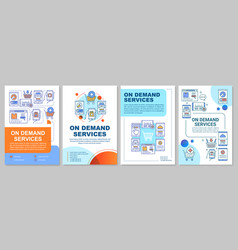 On demand services brochure template layout vector