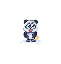 Panda bear extend hand offer business deal vector