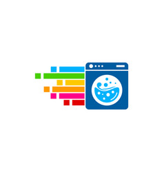 Pixel art laundry logo icon design vector