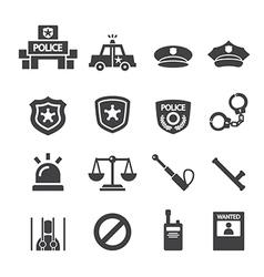 Police icon vector