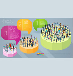 Public opinion infographics vector