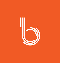 Reative letter b from circle segments and stripes vector