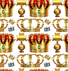 Seamless background with crowns vector image