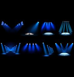 set light effect spotlight vector image