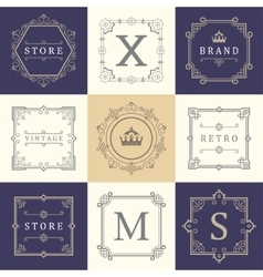 Set Logos and Ornament vector image