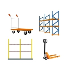 Set of warehouse equipment vector
