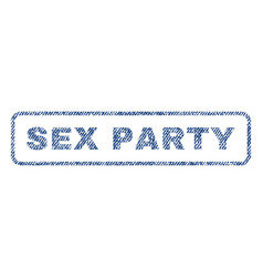 sex party textile stamp vector image