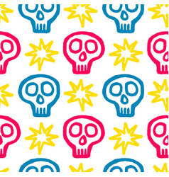 Skull with cross-bones vector