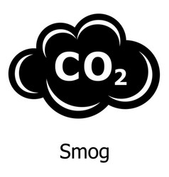 Smog icon simple style vector