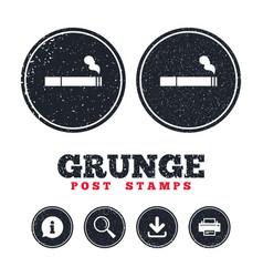Smoking sign icon cigarette symbol vector