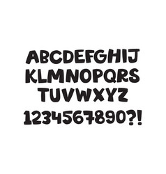 Stylized cartoon english alphabet hand drawn vector