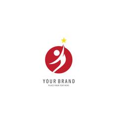 success people logo vector image