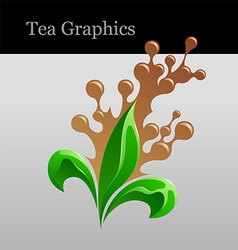 tea graphics vector image