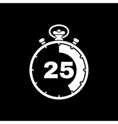 The 25 seconds minutes stopwatch icon Clock and vector image
