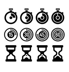 Timers icons set vector image