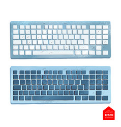 Top view of keyboard vector