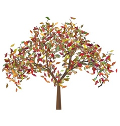 Tree with autumn leafage2 vector