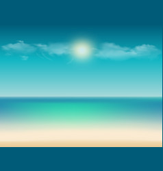 tropical with ocean view sandy beach sky and copy vector image