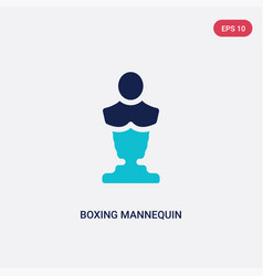 two color boxing mannequin icon from gym and vector image
