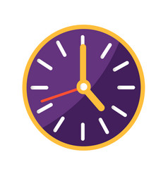 Wall clock with big and small arrows on clockface vector