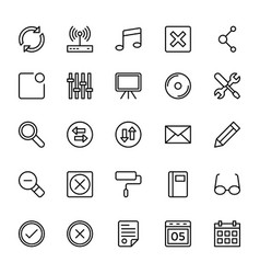 Web and mobile ui line icons 11 vector