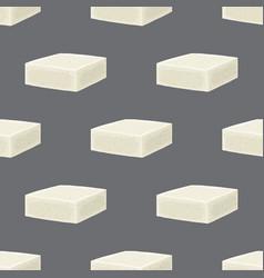 Feta cheese seamless pattern cartoon flat vector