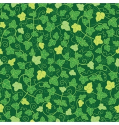 Green ivy plants seamless pattern background vector image vector image