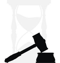 hammer anvil hourglass vector image vector image
