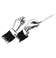 Hand sketch the hands of conductor vector image