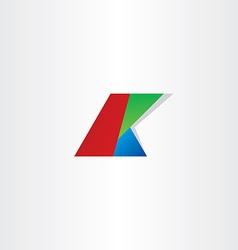 letter k colol rgb icon vector image