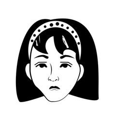 woman comic outline vector image