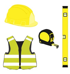 Building items vector image vector image